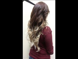 3 rows of Sewn In Hair Extensions (24inch custom colored Ombre).
