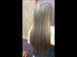 2 rows of silky straight, hand tied hair extensions.