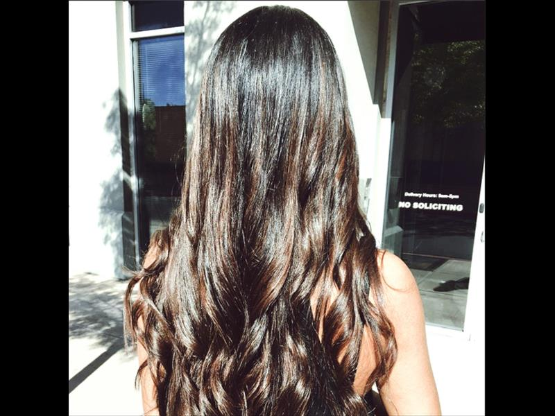 Tape-In Hair Extensions, Ombre, Chocolate Brown Color
